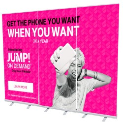 RETRACTABLE ROLL UP WALL DISPLAY SHOWCASE KIT - 3 STAND